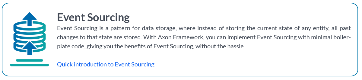 Event Sourcing with Axon Framework