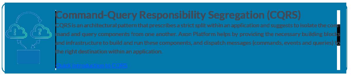 CQRS with Axon Platform